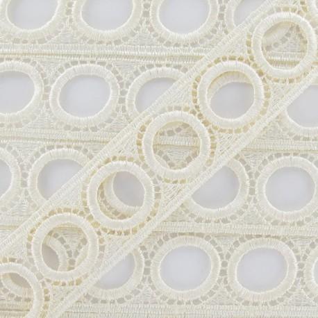 Curtain rod guipure lace 30mm - ecru