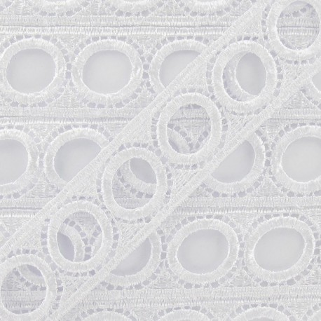 Curtain rod guipure lace 30mm - white