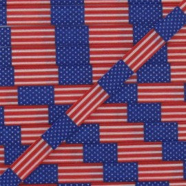 Elastic American Flag 7 mm - multicolored
