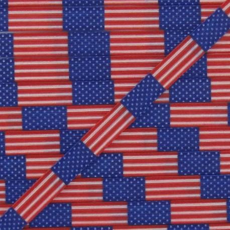 Elastic American Flag 7 mm - multicolored