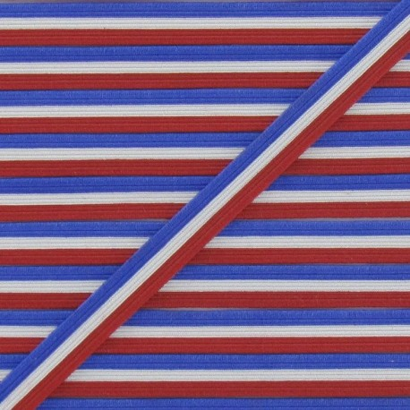 Elastic French Flag 7 mm - multicolored