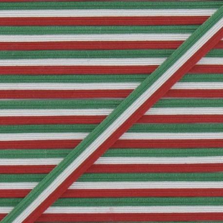 Elastic Italian Flag 7 mm - multicolored
