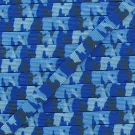 Camouflage Elastic 7 mm - blue
