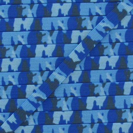 Camouflage Elastic 7 mm - blue