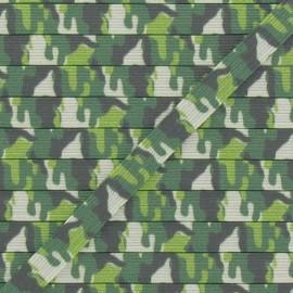 Elastique 7 mm camouflage vert