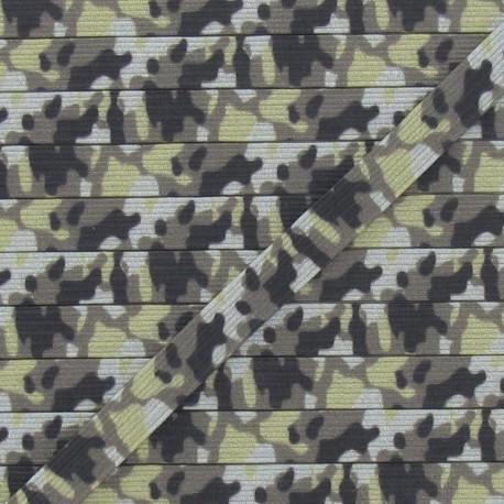 Elastique 7 mm camouflage kaki