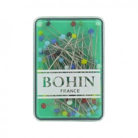 A pack of 80 glass headed pins - Bohin