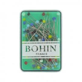 Lot de 80 épingles à tête de verre BOHIN