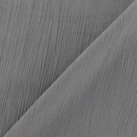 Seersucker fabric - grey x 10cm