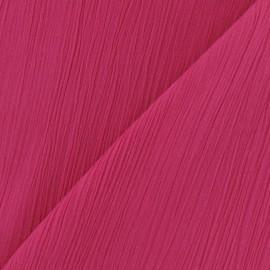 Seersucker fabric - Fuchsia x 10cm