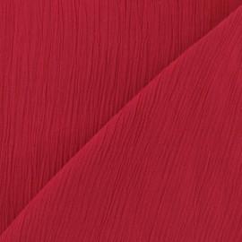 Seersucker fabric - Red x 10cm
