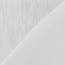Tissu crépon écru x 10cm