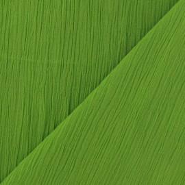 Tissu crépon vert anis x 10cm