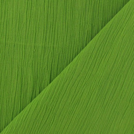 Seersucker fabric - Lime x 10cm