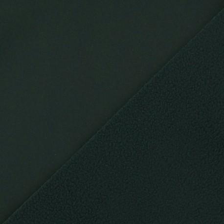 Nano-tex Water-repellent Softshell fabric ? Military green x 10cm