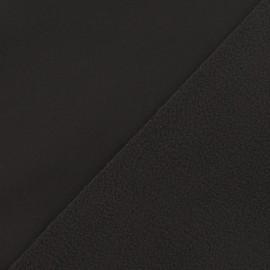 Nano-tex Water-repellent Softshell fabric ? Brown x 10cm
