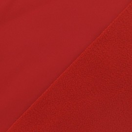 Nano-tex Water-repellent Softshell fabric ? Red x 10cm