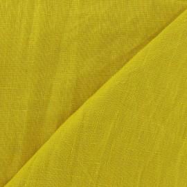 Tissu Lin lavé Curcuma x 10cm