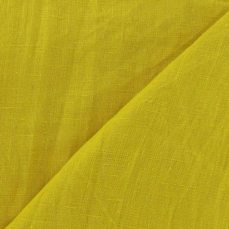 Washed Linen Fabric ? Turmeric x 10cm