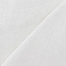 Tissu Lin lavé Blanc x 10cm