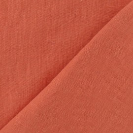 ♥ Only one piece 50 cm X 150 cm ♥ Washed Linen Fabric - Coral
