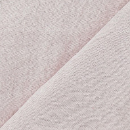 Washed Linen Fabric - Pink x 10cm