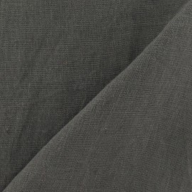 Washed Linen Fabric - Mocha x 10cm