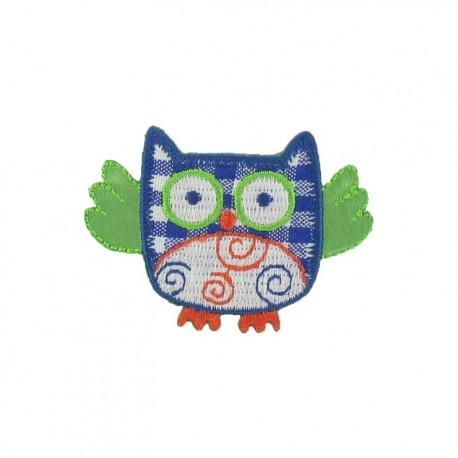 Owl B iron-on applique - multicolored