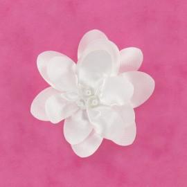 Bride Flower iron-on applique - white