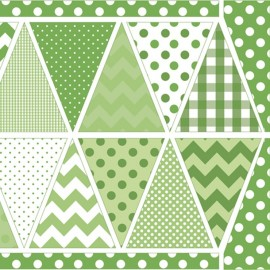 Tissu Holiday Banners Green x 60cm