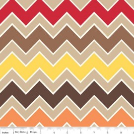 Tissu Shaded Chevron Fall x 10cm