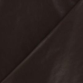 Simili cuir nacré chocolat x 10cm