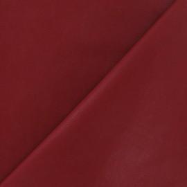 ♥ Coupon de tissu 100 cm X 140 cm ♥ Simili cuir nacré rouge carmin