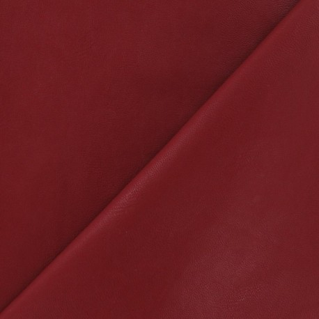 Simili cuir nacré rouge carmin x 10cm