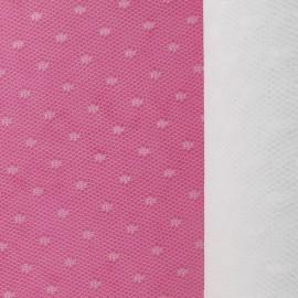 Tulle Haute qualité Plumetis point d'esprit blanc x10cm
