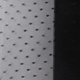 Tulle Haute qualité Point d'esprit noir x10cm