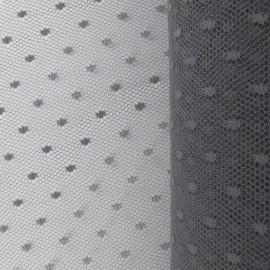 Tulle Haute qualité Point d'esprit gris x10cm