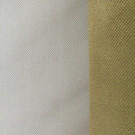 Tulle luxe petite résille doré x 10cm
