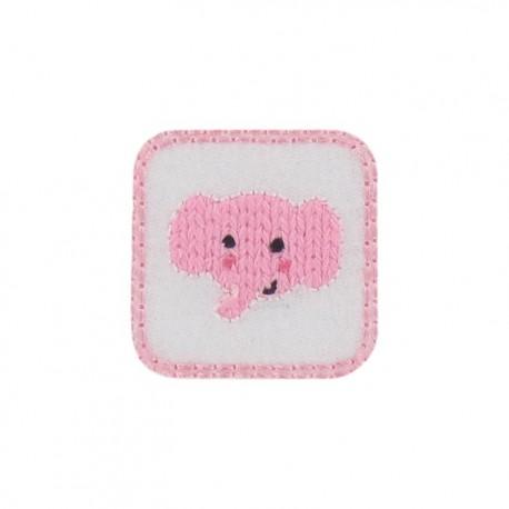 Thermocollant Tête d'éléphanteau rose