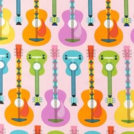 Tissu Jazz between friends Guitar Sweet x 10cm