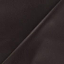 Flexible imitation leather - brown x 10cm