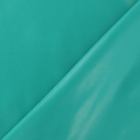 Flexible imitation leather - turquoise/green x 10cm