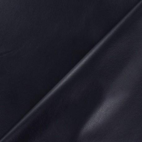 Simili cuir souple bleu nuit x 10cm
