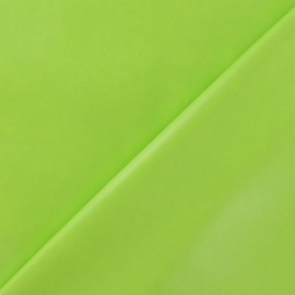 Simili cuir souple vert anis x 10cm