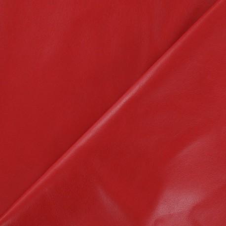 Simili cuir souple rouge x 10cm