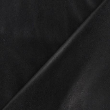 Flexible imitation leather - black x 10cm