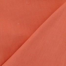 Tissu lin corail x 10cm
