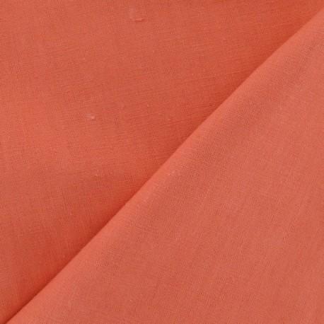 Linen Fabric - Coral x 10cm