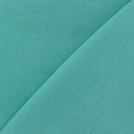 Tissu lin vert opaline x 10cm