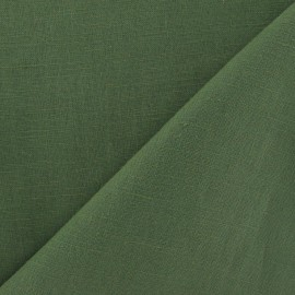 Tissu lin vert avocat x 10cm